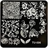 Voberry Diy Nail Art Stickers Stencils Mage Stamp Stamping Plates Manicure Template I