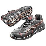 Puma Safety Shoes Daytona Low S3 HRO SRC, Puma 642620-210 Unisex-Erwachsene Espadrille Halbschuhe, Schwarz (schwarz/rot 210), EU 37