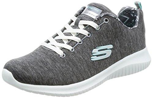 Skechers Damen Ultra Flex-First Choice Ausbilder, Grau (Grey), 40 EU (Leichte Sneakers Skechers)