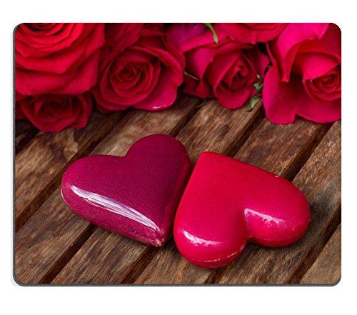 Luxlady Gaming Mousepad Image ID: 36177505Dark rose rosa con cuori e tag
