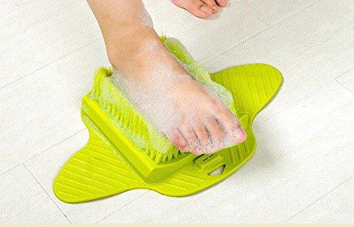 Preisvergleich Produktbild ShoweFoot Scrubber Fuß-Massagegerät, Schrubber und Reiniger für Duschboden-Verbessert den Fuß
