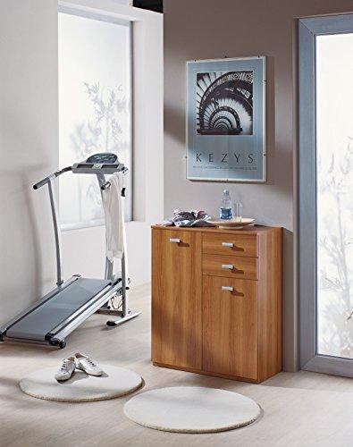 InHouse srls Moderne Möbel, aus Holz, 2 Türen + 2 Schubladen,Nussbaum, 71x36 83H