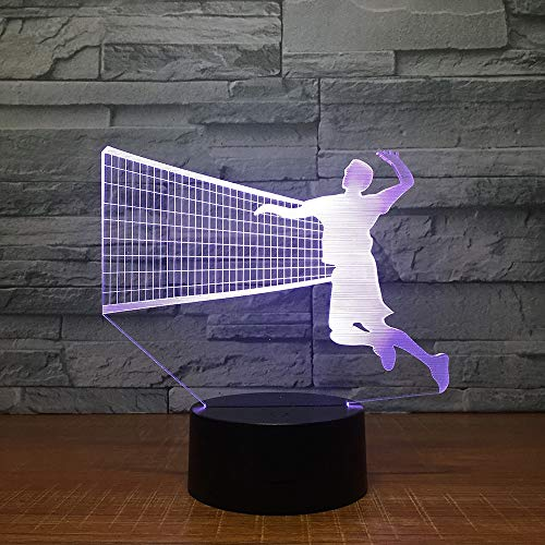 Herren Volleyball Block 3D LED Lampe 7 Farbe Led Nachtlampen Für Kinder Touch Led Usb Tisch Baby Schlafen Nachtlicht