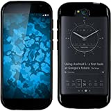 PhoneNatic Yota Yotaphone 2 schwarz Silikon Hülle mit 2