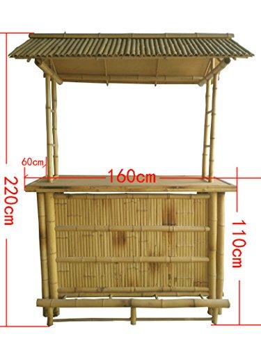 4tlg. Bar RIVAS + Bambus Theke Tresen Barhocker OUTDOOR - 3