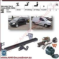 AHK Anh/ängerkupplung mit Elektrosatz 13 polig f/ür Opel Corsa C Combo 2001-2011 Anh/ängevorrichtung H/ängevorrichtung starr mit angeschraubtem Kugelkopf