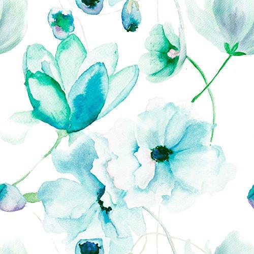 murando - Vlies Tapete - Deko Panel Fototapete - Wandtapete - Wand Deko - 10 m Tapetenrolle - Mustertapete - Wandtapete - modern design - Dekoration - Blumen wie gemalt b-B-0046-j-d