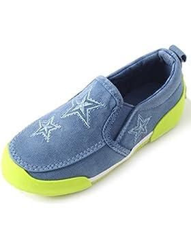 Kentti Zapatillas de Lona con Estrella Sin Cordones Para Unisex-Niños