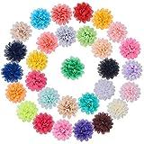nbeads 30Stück von Handgemachter Chiffon Stoff Blumen