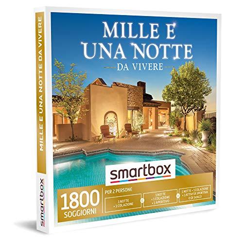 Smartbox - Mille e una notte da vivere Cofanetto Regalo Soggiorni 1 notte con colazione oppure 1 notte con colazione e aperitivo o attività per 2 persone