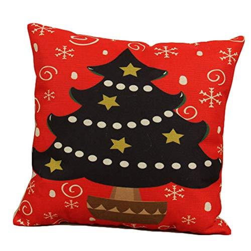 Binpure Kissenbezug, Weihnachts-Leinen, 45 x 45 cm #26 -
