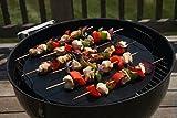 Vinsani [246810Lot] antiadhésif pour barbecue rond Mat (41cm)–réutilisables et lavables au lave-vaisselle Tapis de cuisson–Noir Pack of 2