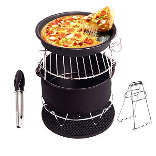 Accesorios de la freidora de aire Freidora para Gowise Phillips y Cozyna con material de sartén antiadherente Ajuste todos 3.7QT-5.3QT-5.8QT Conjunto de 5 para Cake Pizza Barbecue [2 Regalo especial]