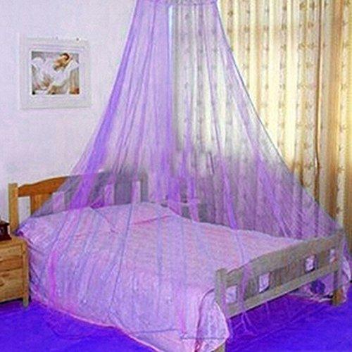 Lila Einzelbett (Bluelans® Baldachin Moskitonetz Insektenschutz Fliegennetz Mückennetz für Doppelbetten und Einzelbetten (Lila))