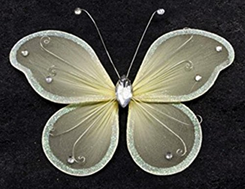 Grand papillon ivoire déco