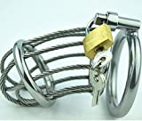 Male chastity lock metal combination can be used as a toy for men and women to improve the fun of life 50mm
