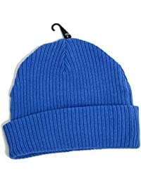 Topman Mens Royal Blue Classic Fit Beanie Thick Ribbed Hat One Size bc1a723efd39