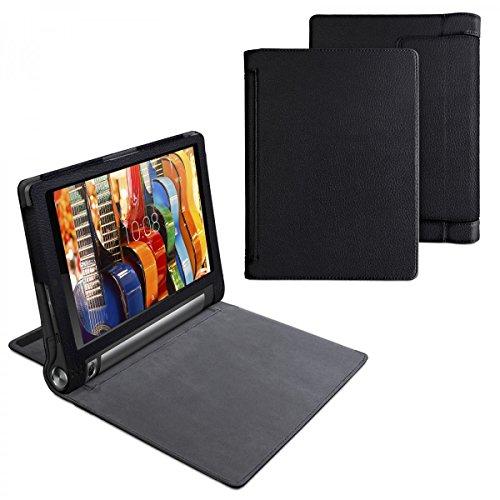 eFabrik Tasche für Lenovo Yoga 3 8 Zoll Hülle Tablet Case Schutzhülle Bookstyle-Desgin Cover Tablet-Zubehör Kunstleder schwarz