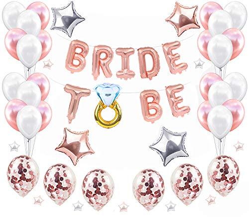 JeVenis Satz von 34 Bridal Shower Ballons Junggesellenabschied Dekorationen Hen Party Supplies Braut Ballon für Bridal Shower Party Dekoration Sein