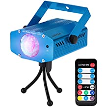 Lixada 10W Mini Luz de Escenario, Efecto Onda de Agua, LED Lámpara con Controlador Remoto, para Disco KTV Partido Club Home Entertainment