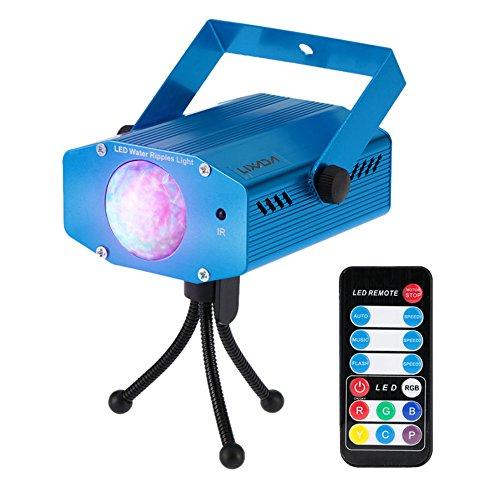 Lixada 9W Farbwechsel Mini LED Wasser Wave Ripple Effect Bühne Licht Lampe mit Controller für Disco KTV Club Party