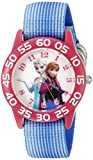 Disney Infinity Kids 'w002504Frozen Elsa & und Anna Analog Display Analog Quarz Blau Armbanduhr