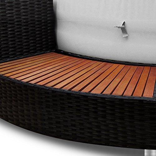 XXL Whirlpool Umrandung Polyrattan Pool Rahmen Verkleidung Poolumrandung - 5