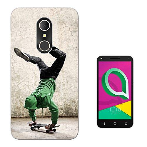 Cellbell LTD 003398 - Skateboarding on hands photo Design ALcatel U5 Plus 4G 4047a Fashion Trend Silikon Hülle Schutzhülle Schutzcase Gel Silicone Hülle