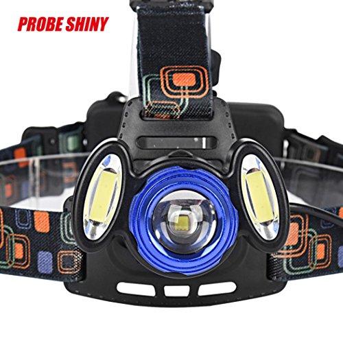 LED Kopflampe, TopTen Fan-Motive 15000Lumen Ultra Bright LED Scheinwerfer Head Light mit Akku und Laden für Camping Jagd Wandern und Outdoor Aktivitäten