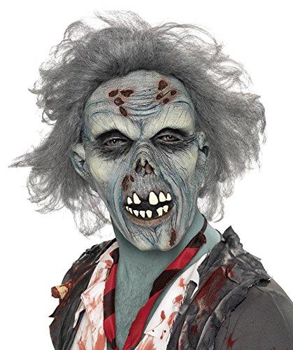 Zombie Latex-Maske für Halloween & Fasching ()