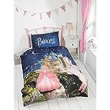 New Kids Glow in the Dark Single Duvet & Pillowcase Set - Princess Fairytale
