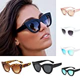 Clearance Sale!OverDose Women Ins Hot Vintage Cat Eye Sunglasses Retro Eyewear Fashion Ladies(#7)