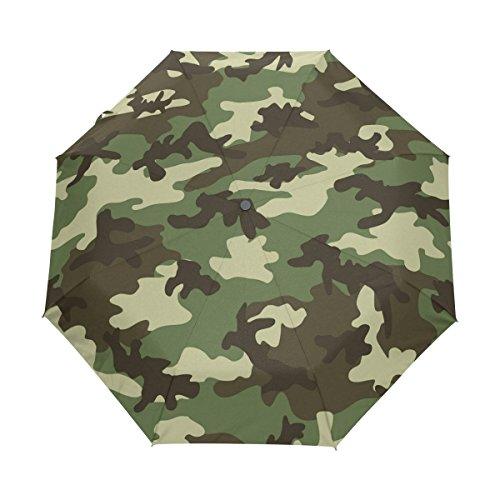 YICOCO Camuflaje Camuflaje Auto paraguas poliéster Pongee paraguas