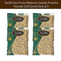 Sindhi Dry Fruits Platinum Quality Pinenut Kernels (250 GMS) Pack of 4