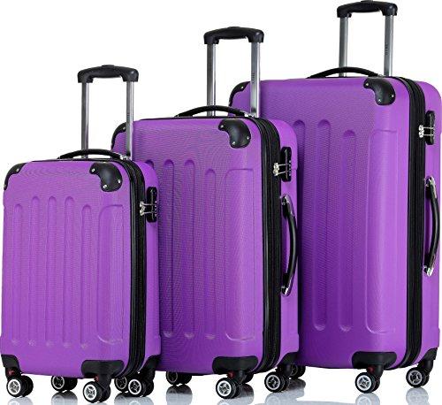 Shaik – Juego de maletas  multicolor violeta