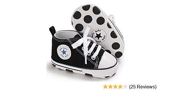 Babycute Infant Canvas Shoes Trainers Soft Sole Casual Sneakers Baby Boys  Girls First Walkers Shoes Lace Up  Amazon.co.uk  Shoes   Bags 3dd5fe414