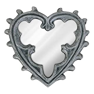 Alchemy Gothic Vintage/Gothic Heart Compact Mirror - The Vault