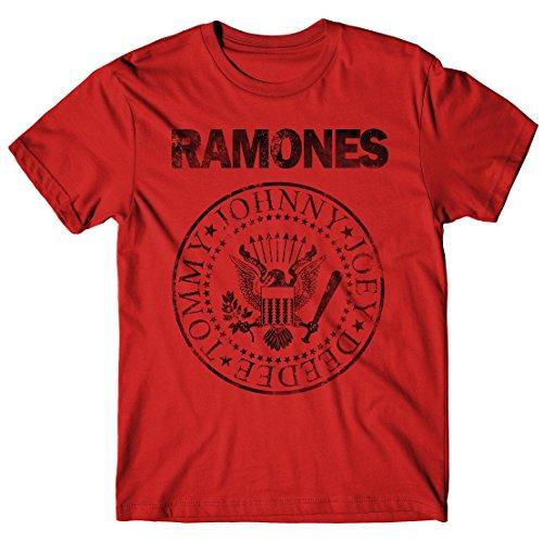 LaMAGLIERIA Camiseta Hombre Ramones Grunge Black Print - Camiseta...
