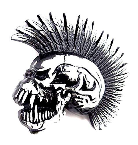 Cinturón Hebilla Punk Rock Calavera 3064Killer Gótico estabilizadora Cinturón Hebilla iroxl Black Metal Buckle