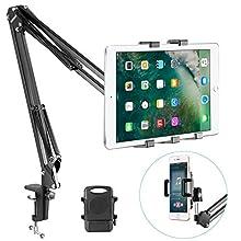 Neewer Universal Mikrofonständer Set für Smartphone für iPhone11/11 Pro/11 Pro Max Samsung Galaxy S10+10 und mehr(Schwarz)