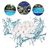 Funmo Filtro Balls, 700g Sfere Filtrazione per Piscina pulizia della piscina Palline filtranti per fibre filtranti Palline filtranti per Piscina / Acquario - Bianco