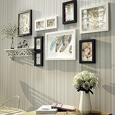 Solid wood Photo frame set -living room dining room is modern and simple , Photo frame Black and White