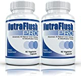 NUTRAFLUSH PRO (2 Bottles) - Complete Colon Cleanser and Detox Cleanse Supplement. 60 Capsules