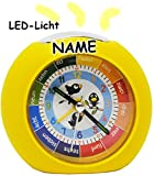 "LED Licht - Kinderwecker - Analog - "" lustige Vögel"