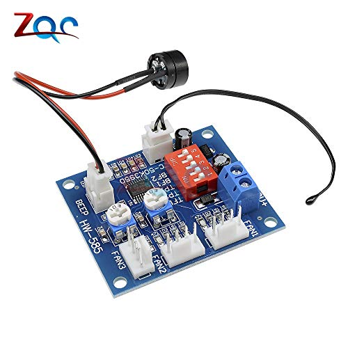 DC 12V 5A PWM PC Fan Temperatur Manumotiv Speed Controller Modul CPU High-Temp Alarm mit Buzz Sonde für Arduino Heat Sink