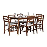 #10: Hometown Allen 6 Seater Dining Table Set (Light Walnut)