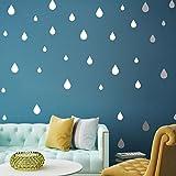 Pegatinas removibles para pared Igemy, para dormitorio, sala de estar, habitación para niños, creativas, multitamaño con forma de gotas de lluvia tipo caricatura