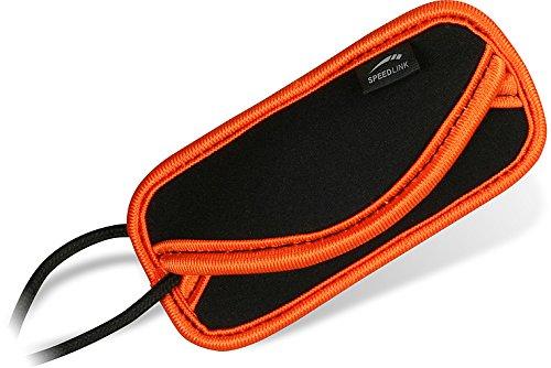 Speedlink Bag S universelle Schutzhülle für MP3-Player wie iPod Shuffle (7 x 4 x 0,5 cm) schwarz orange