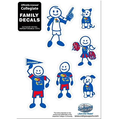 NCAA Kansas Jayhawks Family Character Decals, Small
