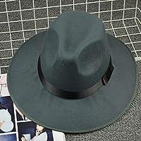 Sunbohljfjh Retro Black Big Bangs Jazz Hat Hat Hombres y Mujeres en Escena los niños Muestran Hat 56 * 58cm